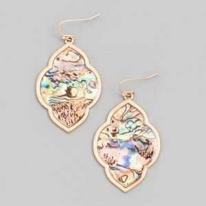 Ornate Abalone Shell Earrings